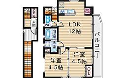 [一戸建] 大阪府豊中市旭丘 の賃貸【/】の間取り