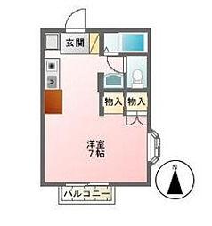 東京都調布市深大寺東町5丁目の賃貸アパートの間取り