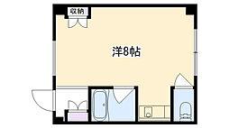 プチシャルマン浜脇[102号室]の間取り