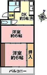 森マンション[2階]の間取り