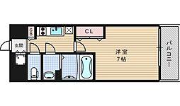 ファーストステージ江戸堀パークサイド[402号室]の間取り