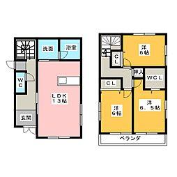 [一戸建] 静岡県浜松市中区西浅田1丁目 の賃貸【/】の間取り