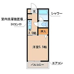 光陽コーポレーション[1階]の間取り