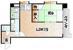安部山公園センチュリー21 弐番館[1階]の間取り
