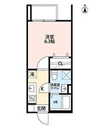 愛知県名古屋市中川区外新町1丁目の賃貸アパートの間取り