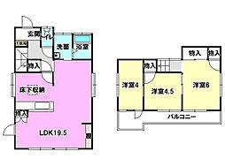 [一戸建] 静岡県浜松市中区葵西6丁目 の賃貸【/】の間取り