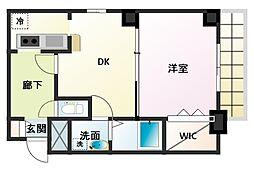ノルデンタワー新大阪アネックス[4階]の間取り