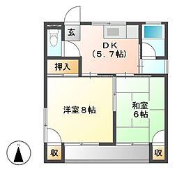 藤原アパート[2階]の間取り