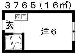オレンジコーポ[208号室号室]の間取り