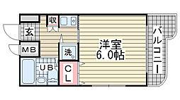 ラプリュムサンコー[6階]の間取り