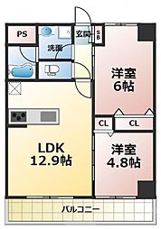 (仮称)新喜多東1丁目新築マンション[3階]の間取り