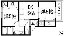 ディンプル[2階]の間取り