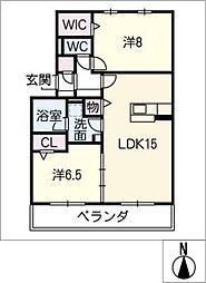 ポートプレミアH[3階]の間取り
