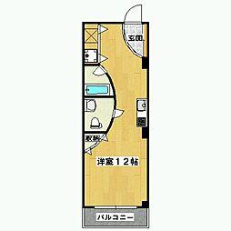 ミリオンスクエアーアパートメント[2階]の間取り