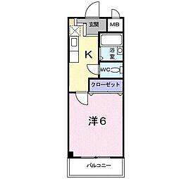 澤田マンション[502号室]の間取り