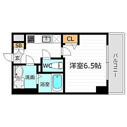 JR大阪環状線 京橋駅 徒歩6分の賃貸マンション 5階1Kの間取り