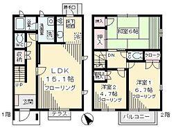 [テラスハウス] 神奈川県川崎市多摩区菅仙谷2丁目 の賃貸【/】の間取り