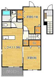 ライズハウスI[2階]の間取り