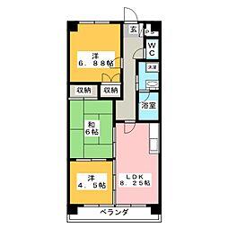 プリマべーラ77[4階]の間取り
