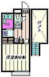 埼玉県川口市南鳩ヶ谷7丁目の賃貸アパートの間取り