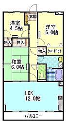 陽香マンション[1階]の間取り