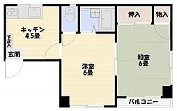 ハイツヤマモト[301号室]の間取り