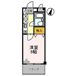 ラ・シャンブル福田1号館[2階]の間取り