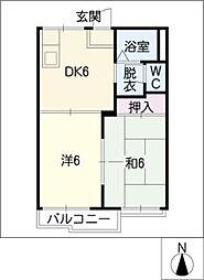 タウニー成和[2階]の間取り