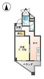 愛知県名古屋市西区新道1丁目の賃貸マンションの間取り