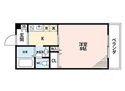 ドミトリオ仁王田[5階]の間取り