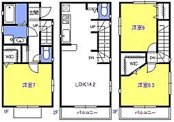 [一戸建] 埼玉県さいたま市中央区本町西5丁目 の賃貸【/】の間取り