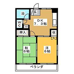 ナンハイツ[1階]の間取り