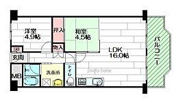 日商岩井第6緑地公園マンション[2階]の間取り