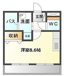 愛知県名古屋市緑区鳴海町字有松裏の賃貸アパートの間取り