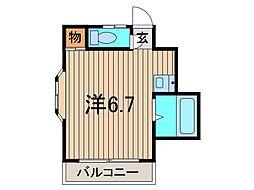 コーポ中青木[201号室]の間取り