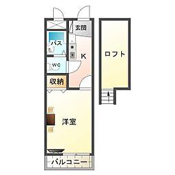 大阪府大阪市平野区加美東2の賃貸アパートの間取り