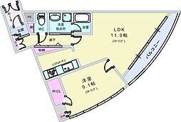 LACASA南桜塚[202号室]の間取り