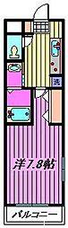 サンモール蕨[308号室]の間取り