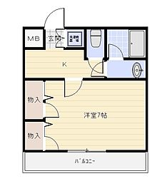 サンルーチェ[2階]の間取り