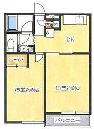 ファインコートUSAMI[2階]の間取り