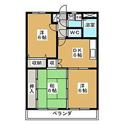 ア・ドリームINOUE[3階]の間取り