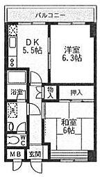 神奈川県横浜市中区山元町4丁目の賃貸マンションの間取り