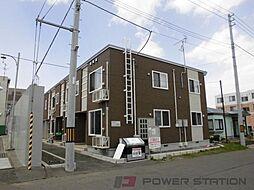 北海道千歳市信濃1丁目の賃貸アパートの外観