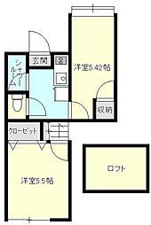 メゾンドール清水ヶ丘[2階]の間取り
