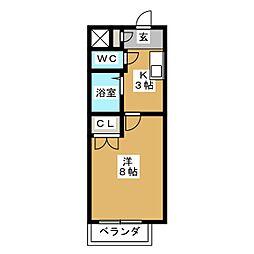 ア・ラ・モード[1階]の間取り
