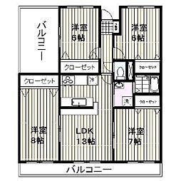 ロイヤルマンション柿田[305号室]の間取り