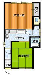 寺尾アパート[1階号室]の間取り