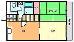 グロー駒川中野[8階]の間取り