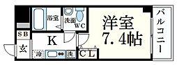 Capital.I姫路 4階1Kの間取り