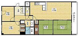 ファミールハイツ北大阪5号棟[11階]の間取り